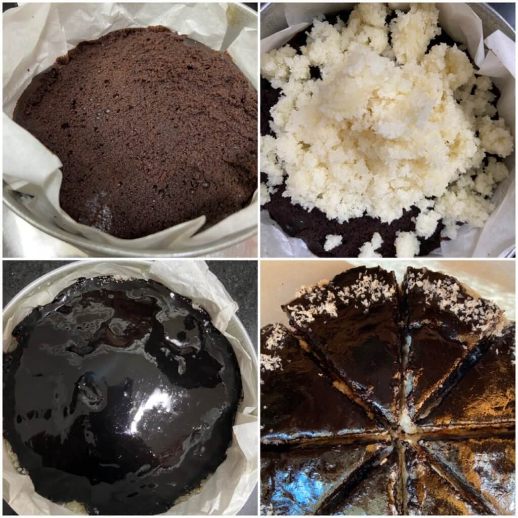 How to assemble bounty cake