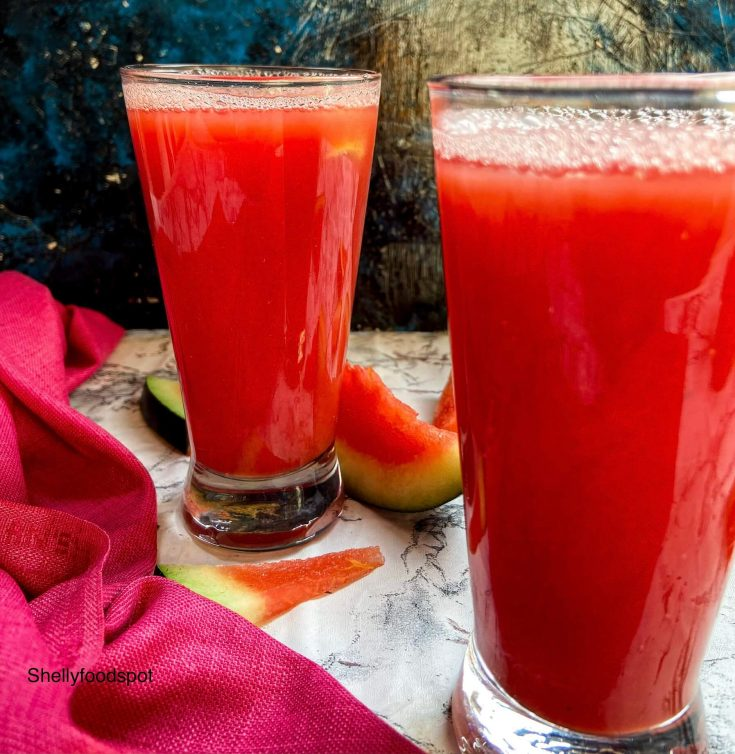 How to make watermelon juice with blender and seeds